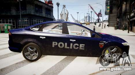Ford Mondeo Police Nationale for GTA 4 left view
