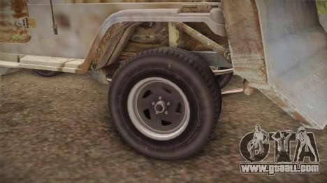 Jeep Wrangler Mad Max Style for GTA San Andreas back view