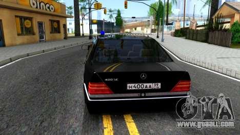 Mercedes-Benz W140 400SE for GTA San Andreas back left view