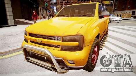 Chevrolet TrailBlazer v2.0 for GTA 4 back left view