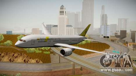 Boeing 787-8 Royal Brunei Airlines for GTA San Andreas back left view