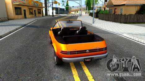 GTA V Declasse Rhapsody Cabrio Style for GTA San Andreas back left view