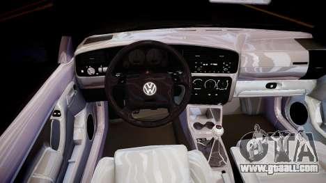Volkswagen Golf 3 GTI for GTA 4 inner view