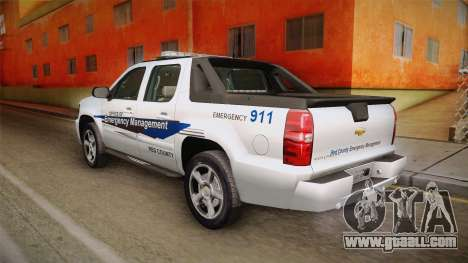Chevrolet Avalanche 2008 Emergency Management for GTA San Andreas left view