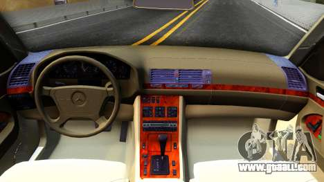 Mercedes-Benz W140 400SE for GTA San Andreas inner view