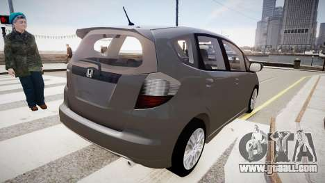 Honda Fit for GTA 4 back left view