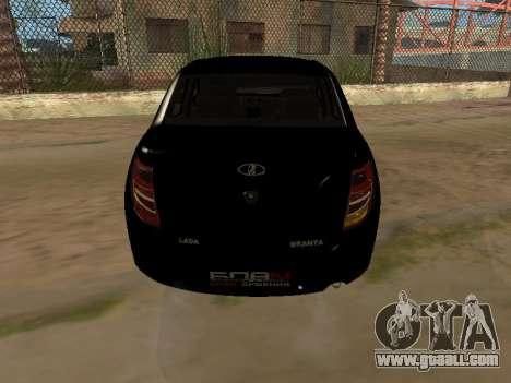 Lada Granta Armenian for GTA San Andreas back left view