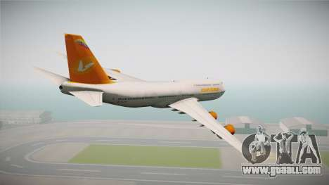 Boeing 747-8I Conviasa for GTA San Andreas left view