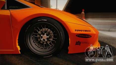 Lamborghini Gallardo Liberty Walk for GTA San Andreas back left view