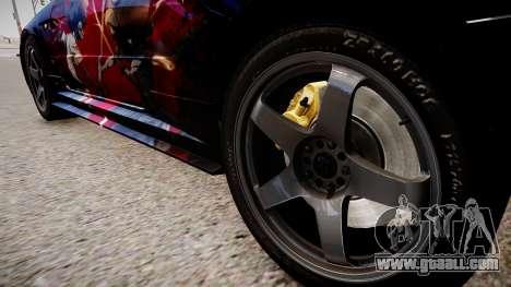 Nissan Skyline R34 Paintjob by eXTaron for GTA 4 back view
