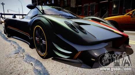 Pagani Zonda R Evolucion Final for GTA 4 back left view