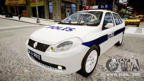 Renault Clio Symbol Police 2011 for GTA 4 right view
