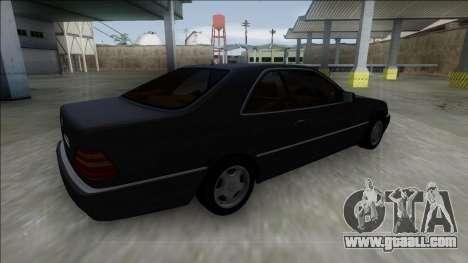 1993 Mercedes-Benz 600SEC for GTA San Andreas left view