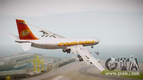 Airbus A340-300 Conviasa for GTA San Andreas right view