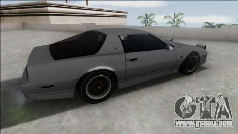 Pontiac Firebird Trans Am for GTA San Andreas left view
