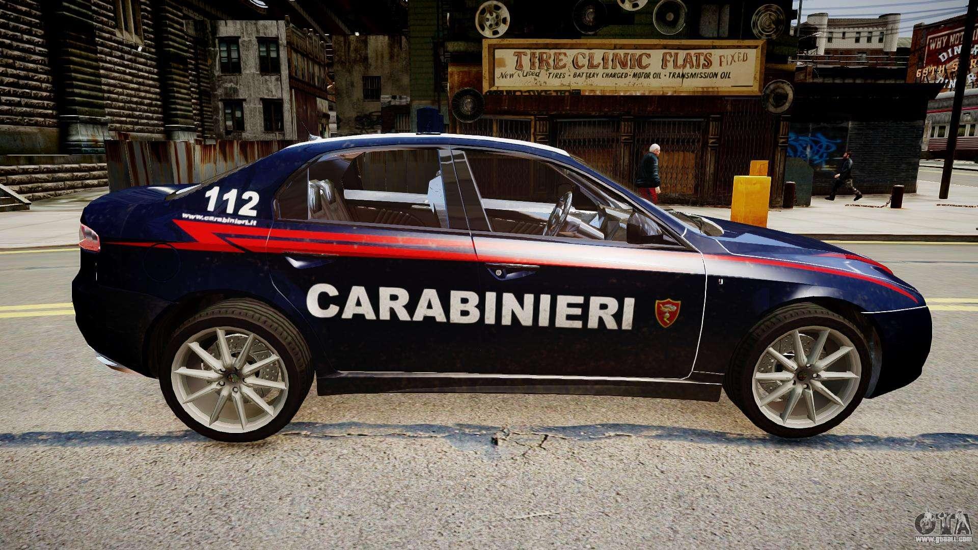 alfa romeo 159 carabinieri for gta 4. Black Bedroom Furniture Sets. Home Design Ideas