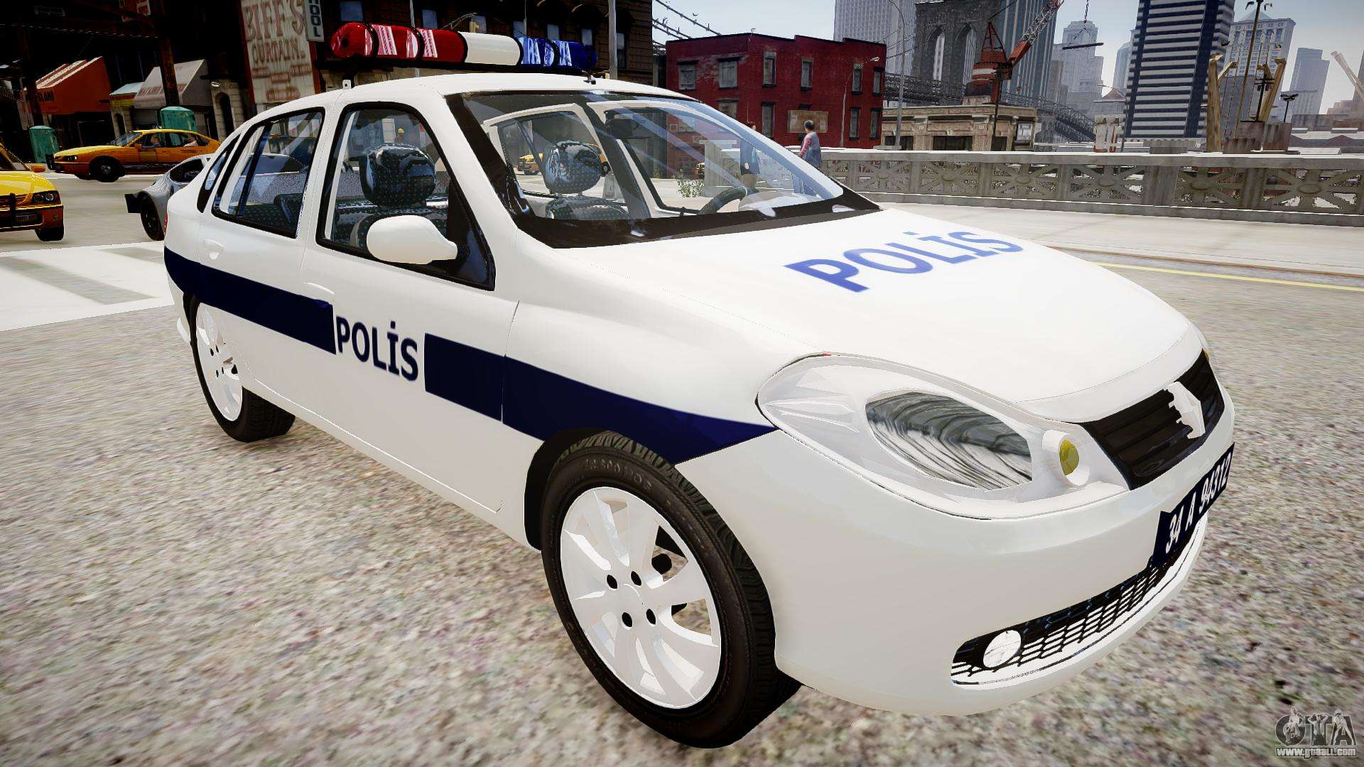 Renault Clio Symbol Police 2011 For Gta 4