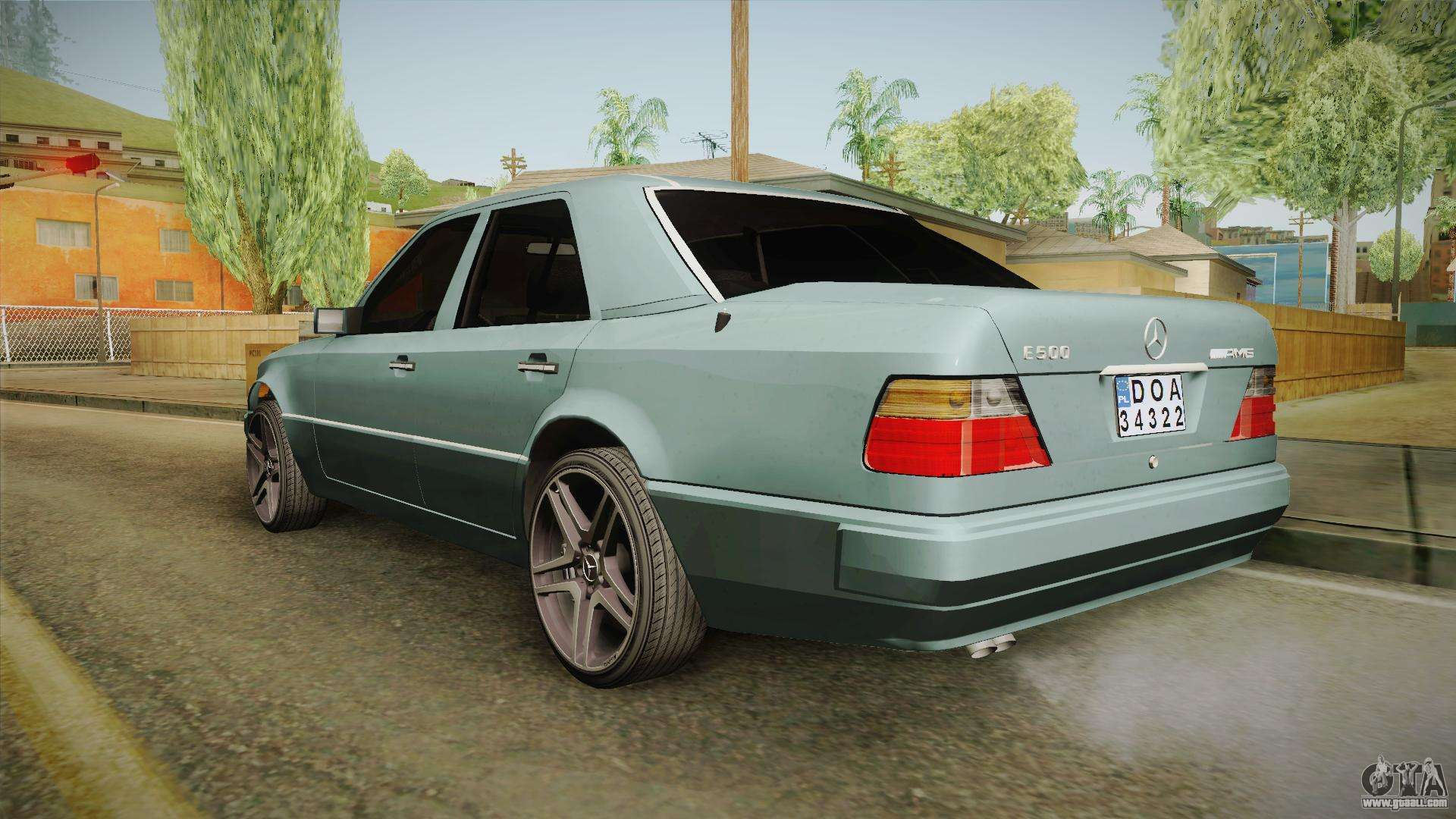 Mercedes benz e500 w124 amg for gta san andreas for Mercedes benz w124 amg