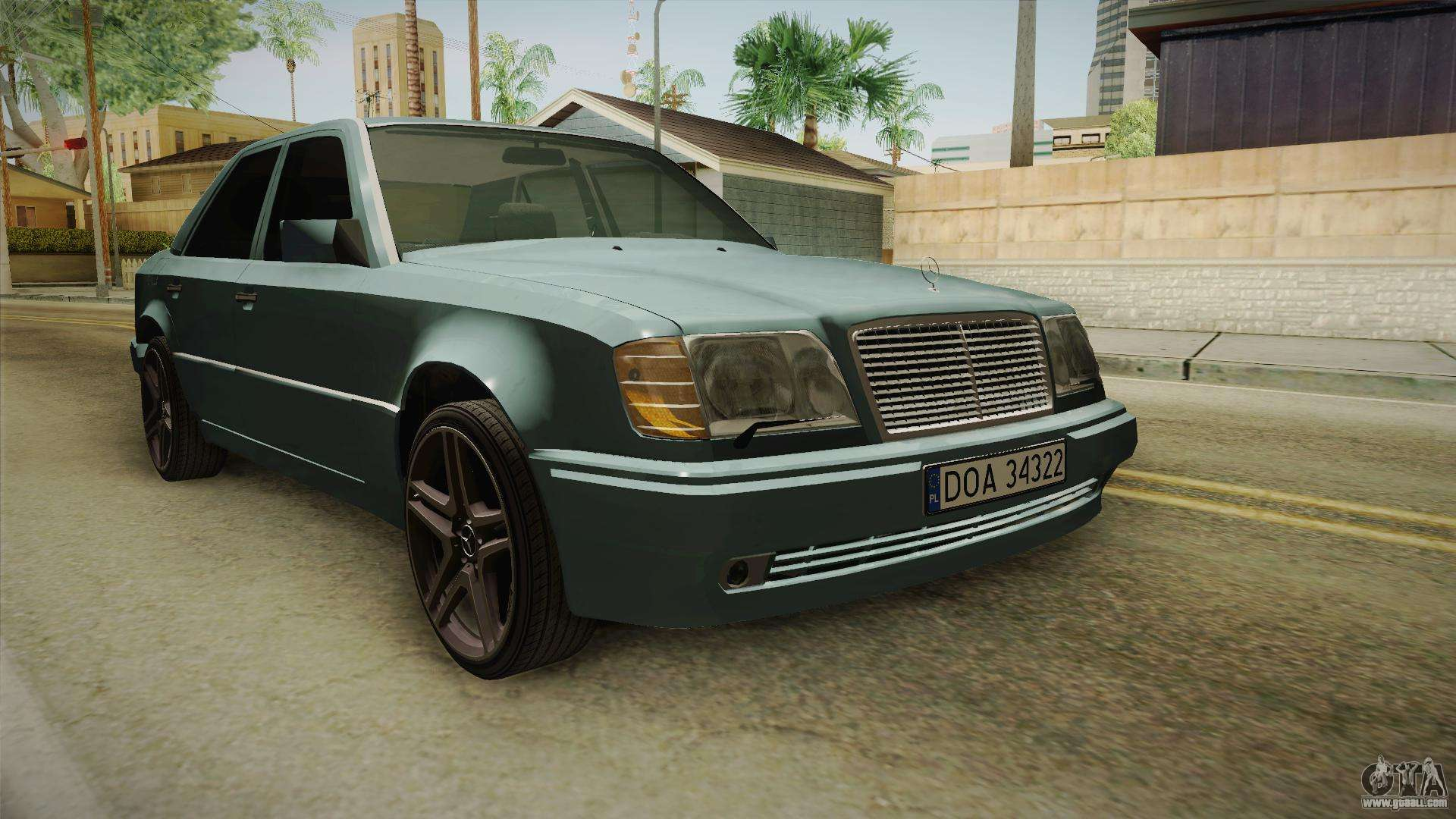 mercedes benz e500 w124 amg for gta san andreas. Black Bedroom Furniture Sets. Home Design Ideas