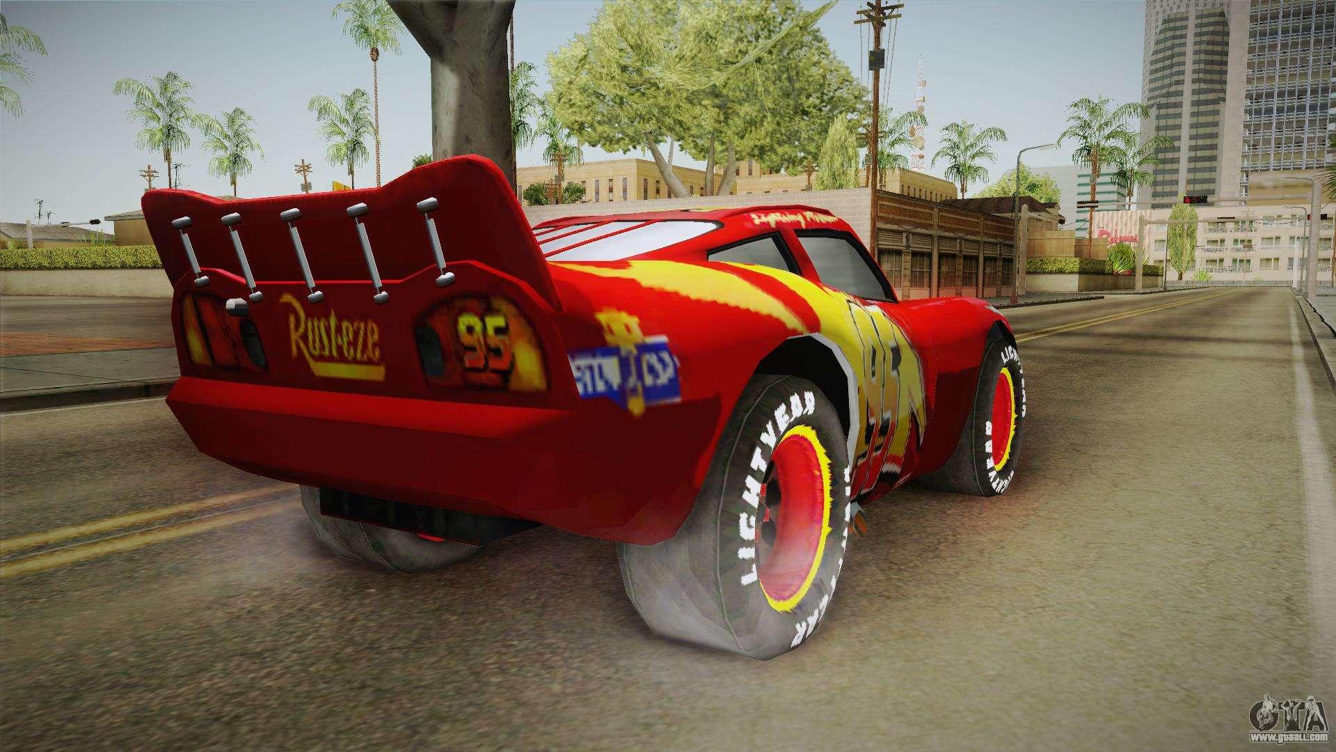 3 Car Garage Design: McQueen For GTA San Andreas