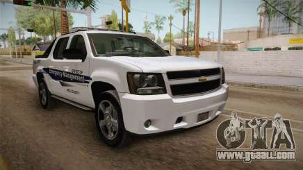 Chevrolet Avalanche 2008 Emergency Management for GTA San Andreas