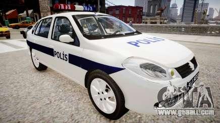 Renault Clio Symbol Police 2011 for GTA 4
