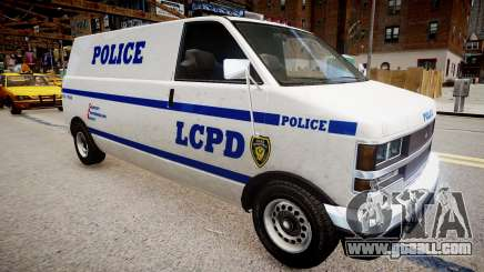 LCPD Declasse Burrito Police Transporter for GTA 4