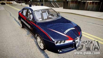 Alfa Romeo 159 Carabinieri for GTA 4