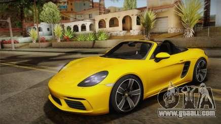 Porsche 718 Boxter S MT 2017 for GTA San Andreas