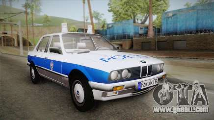 BMW 323i E30 Turkish Police for GTA San Andreas
