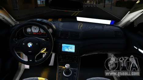 BMW 3-er E46 for GTA San Andreas inner view