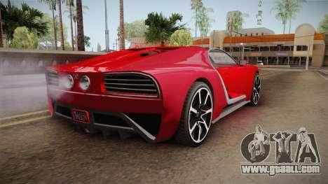GTA 5 Truffade Nero Cabrio for GTA San Andreas left view