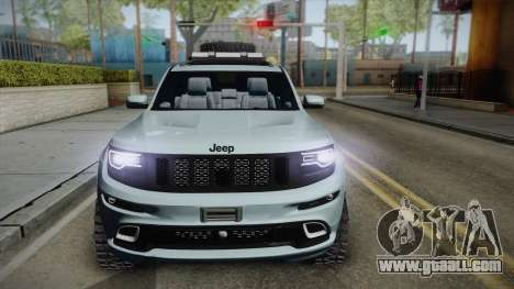 Jeep Grand Cherokee SRT Lifted for GTA San Andreas back left view