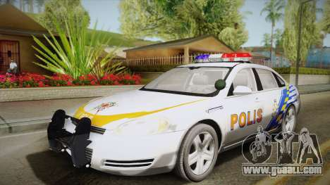 Chevrolet Impala Police Malaysia for GTA San Andreas side view