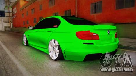BMW M5 F10 Hulk for GTA San Andreas left view