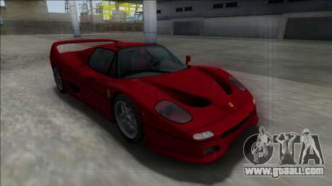 Ferrari F50 FBI for GTA San Andreas back view