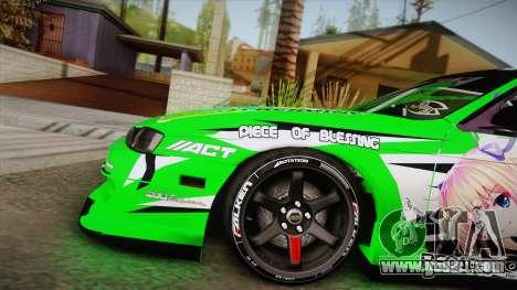 Nissan Silvia S14 Drift Speedhunters Saekano for GTA San Andreas back left view