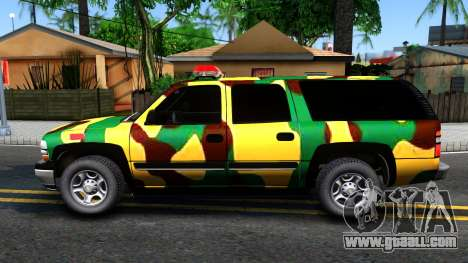 Chevrolet Suburban 2006 Camo for GTA San Andreas left view
