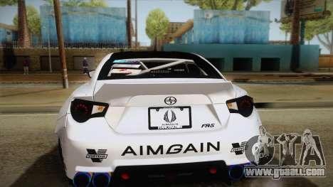 Scion FR-S Aimgain for GTA San Andreas upper view