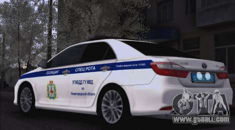 Toyota Camry for traffic police for GTA San Andreas right view