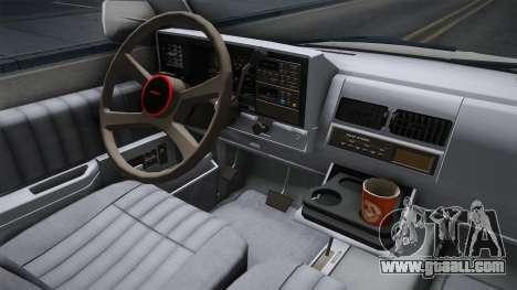 Chevrolet Silverado 1992 for GTA San Andreas inner view
