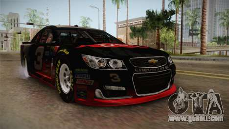 Chevrolet SS Nascar 3 Dow 2017 for GTA San Andreas right view