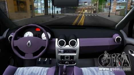 Renault Logan Taxi for GTA San Andreas inner view