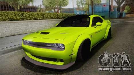 Dodge Challenger Hellcat Liberty Walk LB Perform for GTA San Andreas