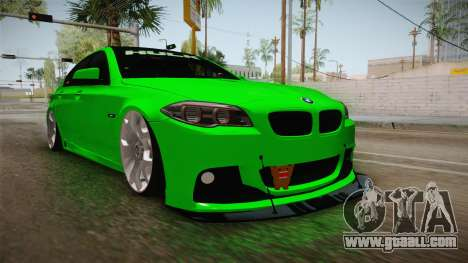 BMW M5 F10 Hulk for GTA San Andreas right view