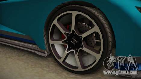 GTA 5 Truffade Nero Spyder IVF for GTA San Andreas back view