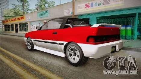 GTA 5 Dinka Blista Cabrio IVF for GTA San Andreas left view