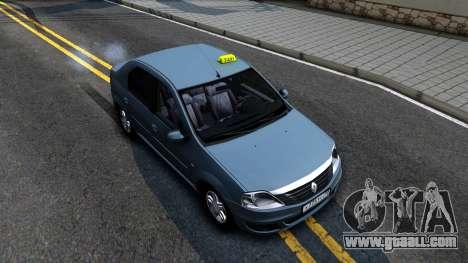 Renault Logan Taxi for GTA San Andreas right view