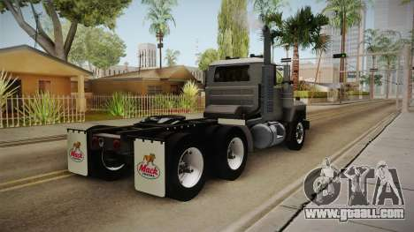 Mack RD690 Tractor 1992 v1.0 for GTA San Andreas back left view