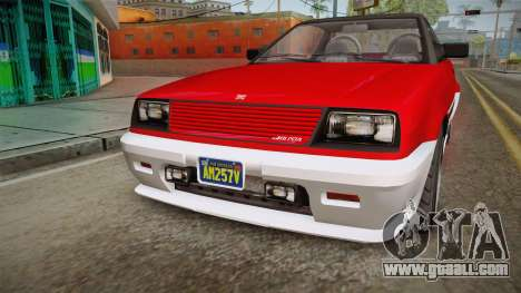 GTA 5 Dinka Blista Cabrio IVF for GTA San Andreas inner view
